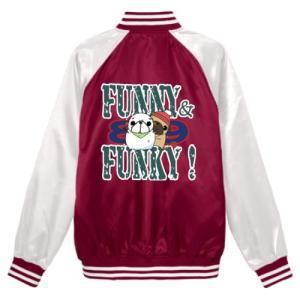 スタジアムジャンパー FUNNY&FUNKY!シリーズ 雪だるまパグ(フォーン) pugbiiki