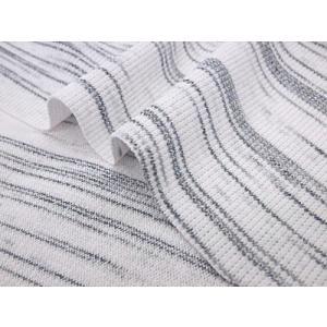 特価ニット生地 40/スパンテレコ(白×ブラック) 1mカット済|pugcabin