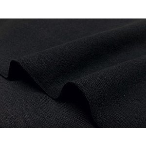 特価ニット生地 30/スパンフライス(ブラック)1mカット済|pugcabin