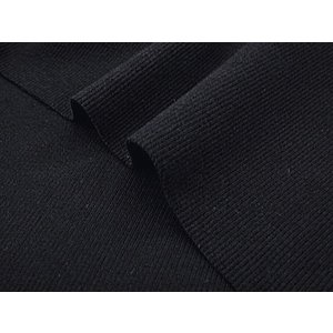 特価ニット生地 40/スパンテレコ(ブラック) 1mカット済|pugcabin