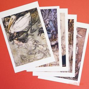 ポストカード(5枚セット) 「不思議の国のアリス」アーサー・ラッカム版