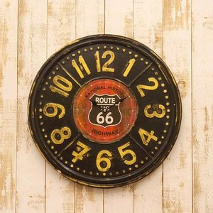 ルート66 ティンクロック ROUTE66 RTE TIN CLOCK  HLCQ068|pulley