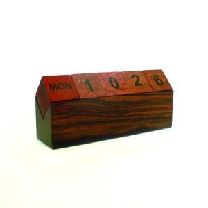 A-206 唐木 万年カレンダー 木製インテリア 木製 pulsejapan