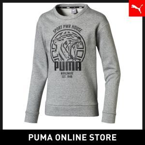プーマ PUMA キッズ アルファ グラフィック クルー スウェット FL キッズ トップス スウェ...