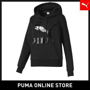 『送料無料 期間限定』プーマ PUMA CLASSICS ウィメンズ ロゴ フーディー レディース ...