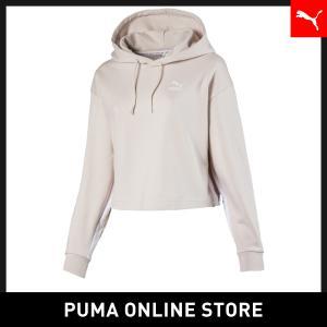 プーマ PUMA CLASSICS ウィメンズ クロップド フーディ レディース トップス パーカー...