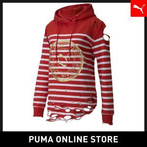 プーマ PUMA PUMA x BALMAIN ウィメンズ ストライプ フーディー レディース BA...