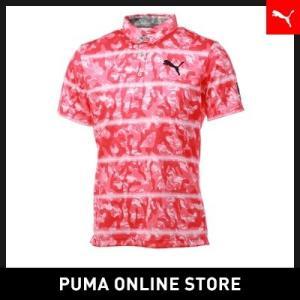 プーマ PUMA ゴルフ ウォーターストライプSSポロシャツ...