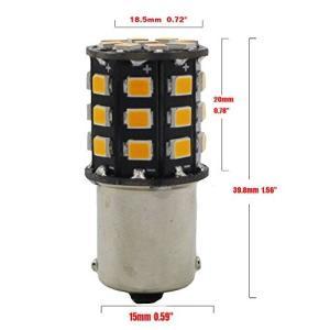 2パック1056 BAU15S 7507 12496非常に明るい琥珀/黄色の非極性LEDライト10-30V-DC、2835 33ターンシグナルランプの pumpkintetsuko83