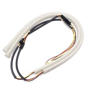 TASWK 車汎用LED シリコン チューブ ライト 湾曲 ウインカー ポジション ホワイト アンバー 2本 (45cm)|pumpkintetsuko83