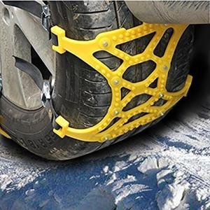 Chialstarタイヤチェーン 非金属 簡易版 緊急用 予備 キアップ不要 取り付け簡単 スノーソックス 車 雪道 プラスチック アイスバーン 凍結|pumpkintetsuko83