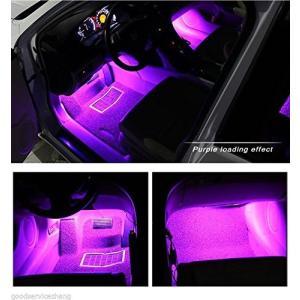 カー内部LED装飾ライト(車内用) シングルカラーモード 36ランプビーズ 高輝度 車内フロア ライト イルミネーション 車内 ネオンシガーソケット|pumpkintetsuko83