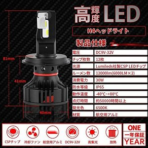 【D-Lumina正規品】H4 Hi/Lo LEDヘッドライト 新基準車検対応 コンパクト設計 99%車種対応 DC9V-32V Lumileds社製|pumpkintetsuko83
