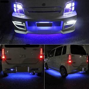 言の葉 防水 RGB LEDテープ アンダーライトキット 高輝度 高品質 アルミニウムボディー 音に反応サウンドセンサー内蔵 フルカラー 車外装飾 車|pumpkintetsuko83