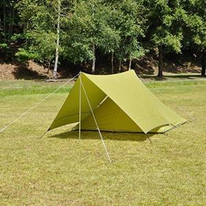 PANDAテントとの連結で快適度をアップできるタープ。 雨の日にゆっくりくつろげるスペースが拡張 ●...