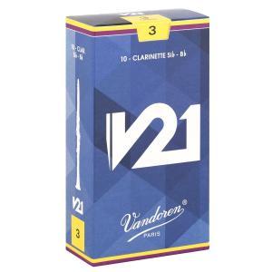 バンドーレン B♭クラリネットリード V21 硬さ : 3 (10枚入り) punipunimall