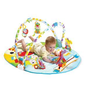 ユーキッド プレイマット レールの上を車が走る プレイジム 成長に合わせて長く使える 知育玩具|punipunimall