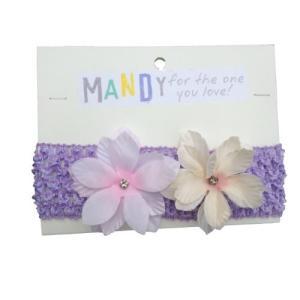 MANDY ベビー フラワー ヘアバンド Sparkles Lavender Hairband|punipunimall