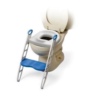 MOMMY'S HELPER トイレトレーニング 補助便座 ステップ付 (折りたたみ式) BCMH11148|punipunimall