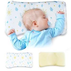 チチロバ(TITIROBA) ベビー まくら ベビー枕 向き癖防止枕 絶壁頭 斜頭 変形 寝姿勢矯正 頭の形が良くなる 通気 汗とり 出産祝い 男女兼|punipunimall