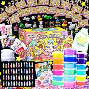 HSFTILV スライム slime kit フリースライム おもちゃ 手作りツール ストレス解消 ...