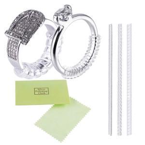 指輪 サイズ調節 リングアジャスター ring adjuster リングストッパー 銀磨きクロス布付き 3本セット|punipunimall