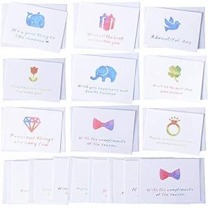 18枚入り メッセージカード ミニ ミニカード カラフル シンプル 一言メッセージ付 封筒付き 結婚式|punipunimall