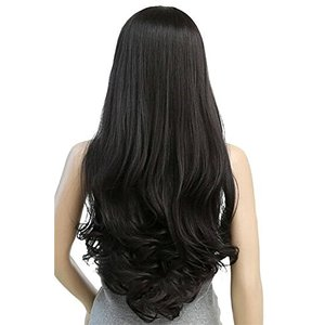 Long Loose Wave Light Dark Brown Black 75cm Women ...