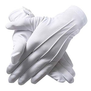10双 礼装用 手袋 白 フォーマル 結婚式 披露宴 式典 警備用 男女兼用 punipunimall