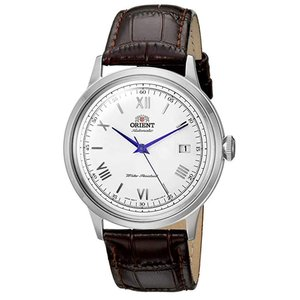 Orient AC00009W Men's Bambino II Silver Dial Brown Leather Strap Automatic|punipunimall