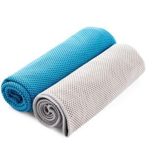 FSDUALWIN スポーツタオル 超冷感タオル 冷却タオル 2枚セット 暑さ、熱中症対策 クールタ...