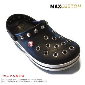 クロックス パンク カスタム クロックバンド 黒 ブラック crocs custom サンダル メンズ レディース