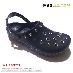 クロックス パンク カスタム アニマルゼブラ ブラック 黒 crocs custom crocband animal clog クロッグ サンダル