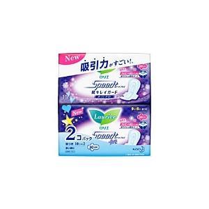 花王 ロリエ Speed+肌キレイガードオーバーナイト羽つき 20個(10個×2個)