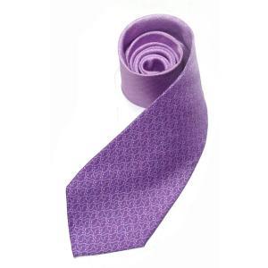 和柄ネクタイ 鮫千鳥 紫|pura-pura