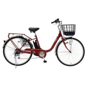 【★メーカーより最短出荷★】 EISAN 電動アシスト自転車 BENERO26-RED 6Ah レッド|puraiz
