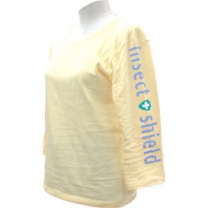 インセクトシールド 虫除け 9分丈Tシャツ イエロー S|puraiz