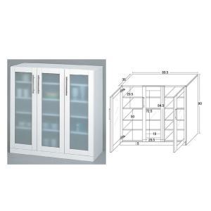 カトレア食器棚 90-90    23464|puraiz