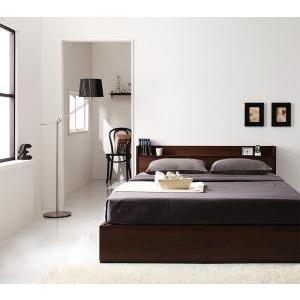 ベッド 収納付き コンセント付き Ever エヴァー マルチラススーパースプリングマットレス付き ダブル|purana25