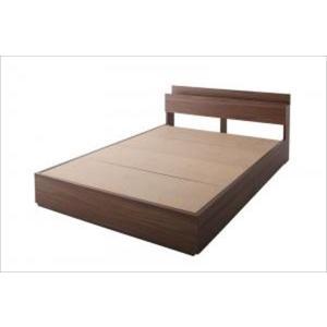 収納ベッド 棚・コンセント付き General ジェネラル ベッドフレームのみ ダブル|purana25