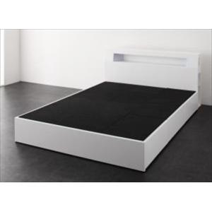 ベッド/セミダブル ベッドフレームのみ 収納付き モダンライト・コンセント付き Cher シェール|purana25