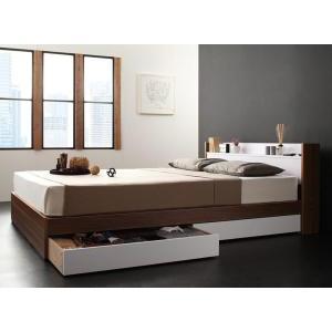 収納ベッド/シングル 棚・コンセント付き sync.D シンク・ディ スタンダードボンネルコイルマットレス付き|purana25
