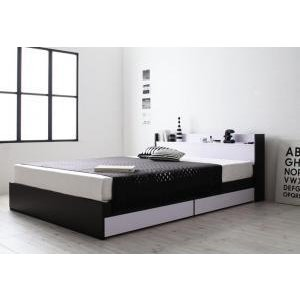 ベッド 収納付き モノトーンモダンデザイン 棚・コンセント付き MONO-BED モノ・ベッド マルチラススーパースプリングマットレス付き シングル|purana25
