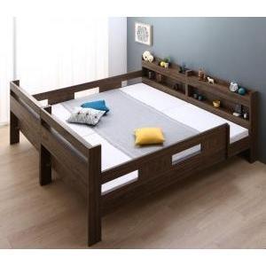 ずっと使える!2段ベッドにもなるワイドキングサイズベッド Whentoss ウェントス 薄型・軽量ボンネルコイルマットレス付き|purana25