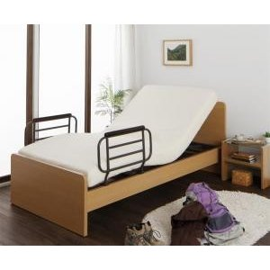 お客様組立 シンプル電動ベッド/シングル/2モータ Lakuteeta ラクティータ ウレタンマットレス付き|purana25