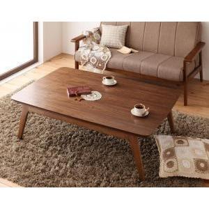 天然木ウォールナット材 北欧デザインこたつテーブル new!  Lumikki ルミッキ/長方形(120×80)|purana25