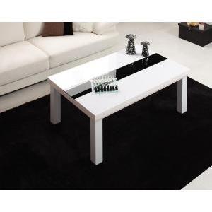 鏡面仕上げ アーバンモダンデザインこたつテーブル VADIT バディット/長方形(105×75)|purana25