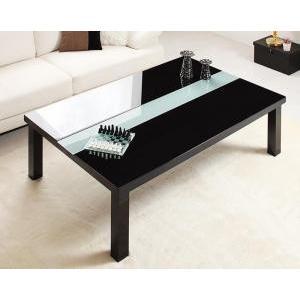 鏡面仕上げ アーバンモダンデザインこたつテーブル VADIT バディット/長方形(120×80)|purana25