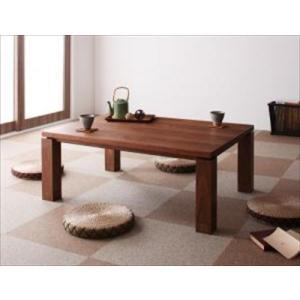 天然木ウォールナット材 和モダンこたつテーブル STRIGHT ストライト/長方形(105×75)|purana25
