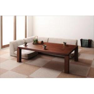 天然木ウォールナット材 和モダンこたつテーブル STRIGHT ストライト/長方形(135×85)|purana25